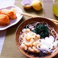 モロヘイヤとモズク入りミニたぬき蕎麦 & 最近の晩ご飯は・・