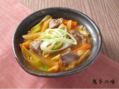 砂肝と野菜の韓国煮