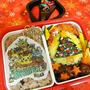 クリスマスランチの日のキャラ弁はポケモンで!/美味しい濃い緑シートできた