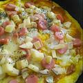 フライパンで♪簡単美味!スパイシー☆カレーピザ by Mariさん