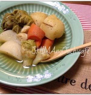 ファーミング楠本の有機お野菜でおうちカフェ!栄養たっぷり野菜だけでも美味しいポトフ