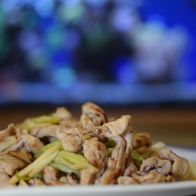 豚肉と白葱の香味ペースト炒め