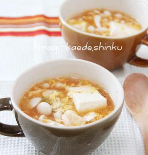 ダイエットにも◎!?ぷるるん鶏むね肉と豆腐のキムチスープ