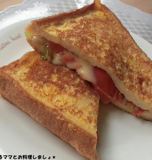 簡単★トマトとチーズのフレンチトースト