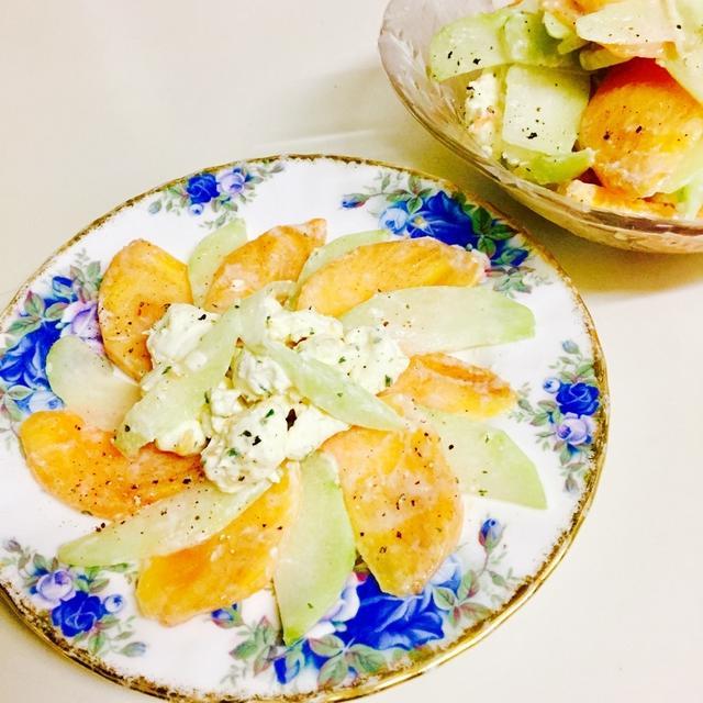 柿とハヤトウリのラペ