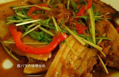 豚の味噌炒めとHOTSUNチキンのリダ