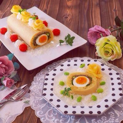 ドライカレーの巻き寿司〜寿司ロールケーキ