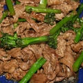 ≪牛肉と スティックセニョールのオイスターソース炒め≫