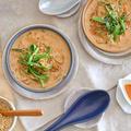 豆乳春雨坦々スープ
