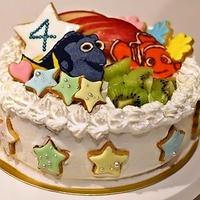 ニモとドリーの誕生日ケーキ作りました
