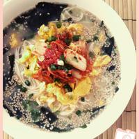 わかめスープを使ったアレンジレシピ~韓国風にゅうめん~
