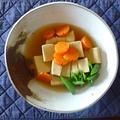 大豆出汁:高野豆腐