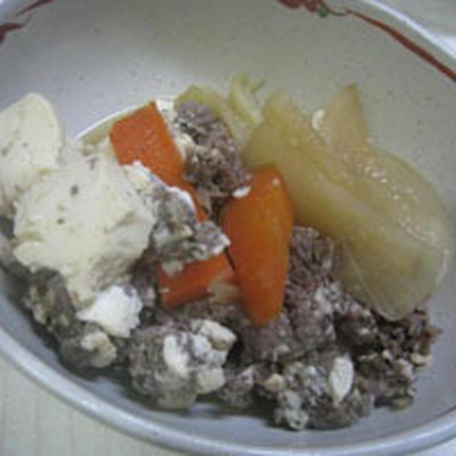 牛肉と豆腐の煮物
