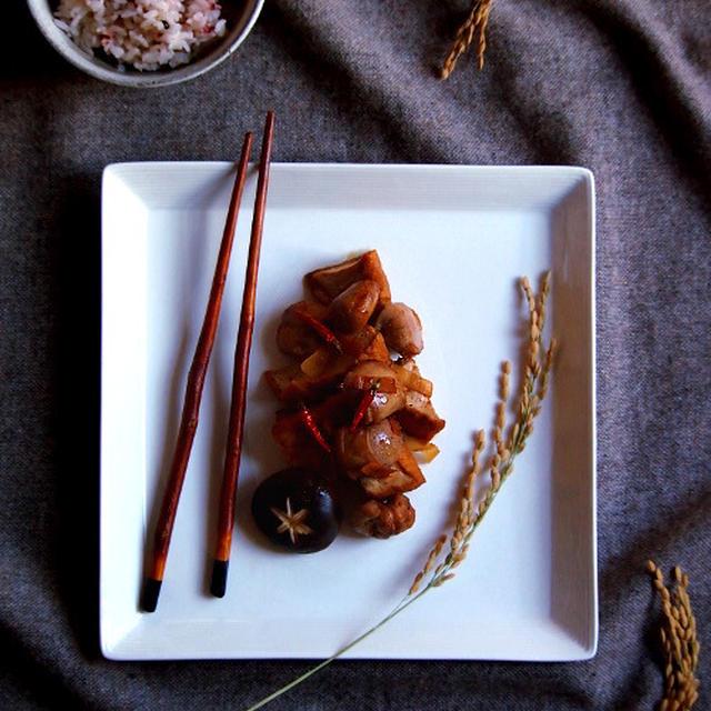 鮭白子と厚揚げの煮付け
