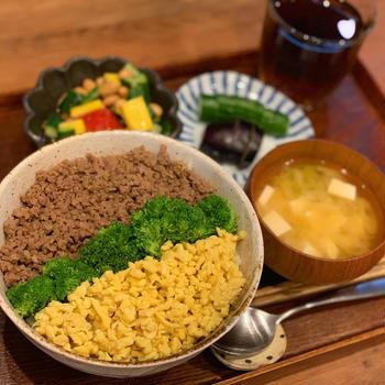 食費月2万の晩御飯は3色丼と今日のInstagramのお話。