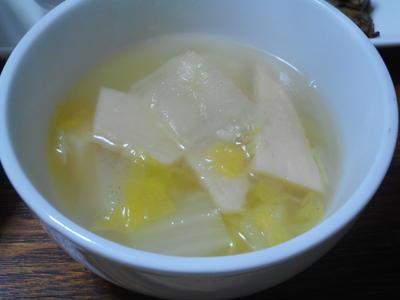 白菜とたけのこの塩スープ