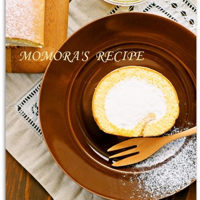 ノンオイル・ノンシュガー生地材料3つ♡簡単ふんわり優しい お菓子 はちみつロールケーキ♬母の日にも
