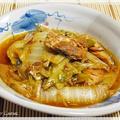 白菜と鯖缶の韓国風煮