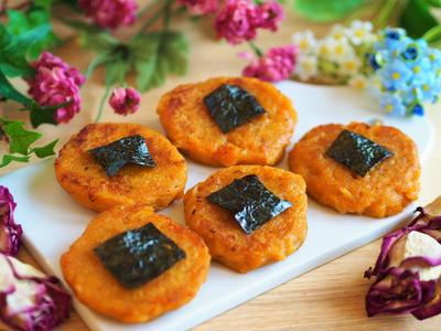 【副菜】もっちりクルミかぼちゃもち♡味噌風味。ダンナに感謝。