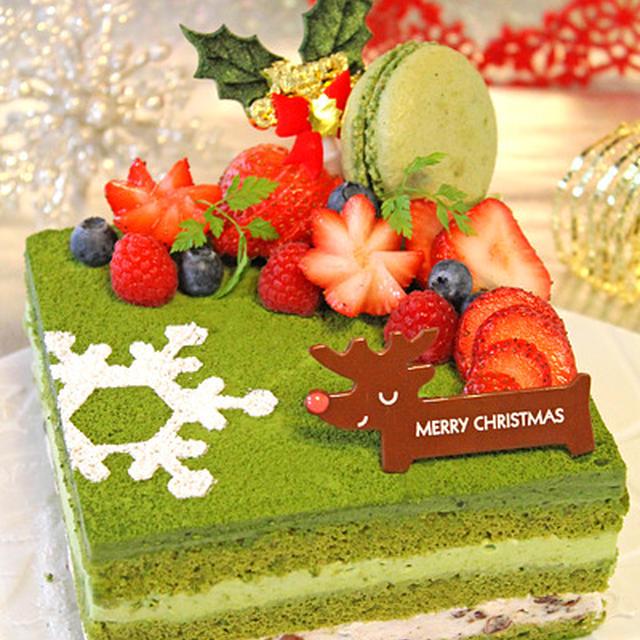 抹茶とマスカルポーネのクリスマスケーキ☆Cottaさんのクリスマス特集に掲載