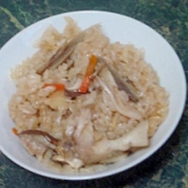 五香粉の香り♪ゴボウと舞茸の中華炊き込みご飯