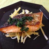 モニター★鮭とジャガイモのソテー~濃厚マーガリンパセリソース