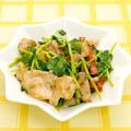 ☆豚肉と豆苗のオイマヨ炒め☆