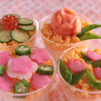 すし酢で簡単!華やか!お花のカップ寿司