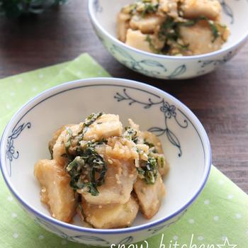 揚げ里芋のさっぱり大葉和え☆ & クックパッド本日のピックアップレシピに掲載中♪
