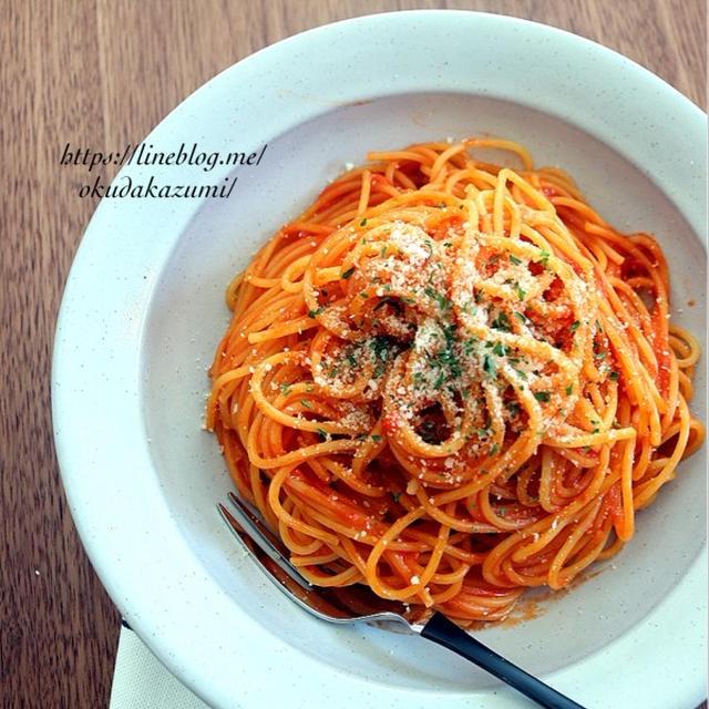 【別ゆで不要でほったらかし】レンジより簡単(かも)トマトクリームパスタ