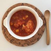 ベーコン入り蓮根鶏団子のトマト煮込み