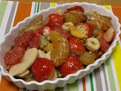 気温が低めで推移しておりました  フルーツのカポナータ仕立てバルサミコ風味