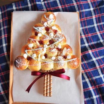 「おは朝」クリスマスツリーちぎりパン *クリスマスデコレーション*