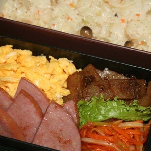 10月17日  炒飯&厚切りハム弁当(練習)