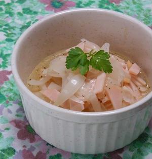 旬野菜で簡単作り置き!新タマネギとハムのイタリアンマリネ。