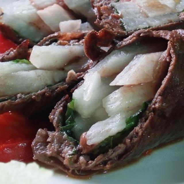牛肉の長芋巻きバター醤油ソテー