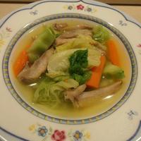 チキンとキャベツのスープ