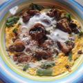 手軽な月曜日のランチ ケバブの卵丼