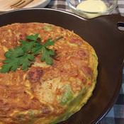 野菜オムレツ*カレーマヨソース