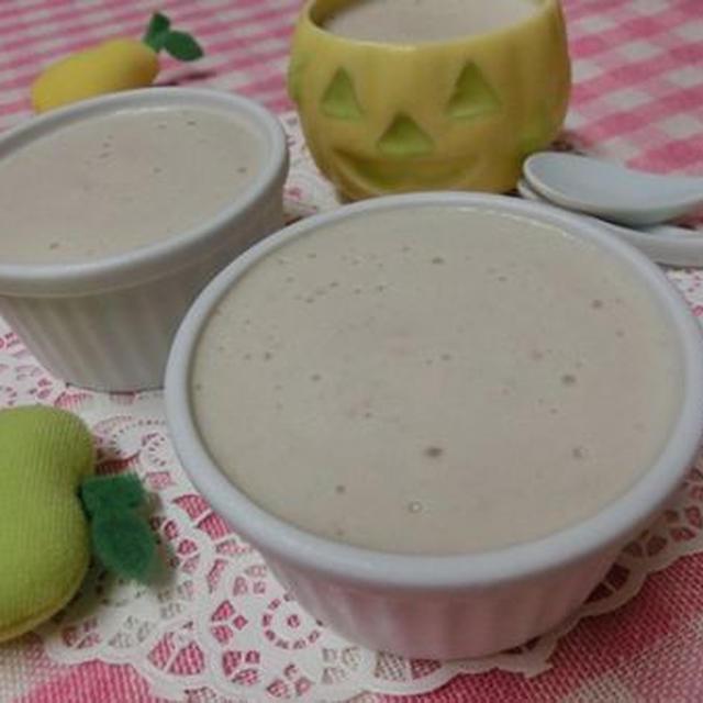 りんごの香りがふわぁ♪ 冷やすまで3分☆ りんごと豆腐のババロア