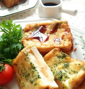 豆腐のチーズはさみフライ☆
