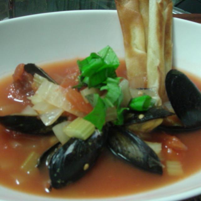 ムール貝のトマトスープ