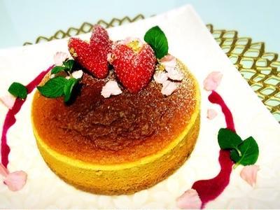 【レシピ公開!】簡単スフレチーズケーキ♡