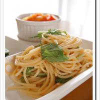 レシピブログ:水菜とたらこのパスタ♪