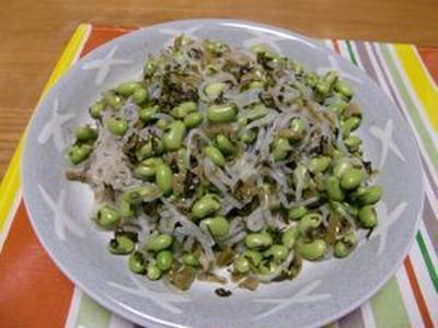 枝豆と糸こんにゃくの炒めもの