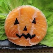 ハロウィーン!サーモンの押し寿司