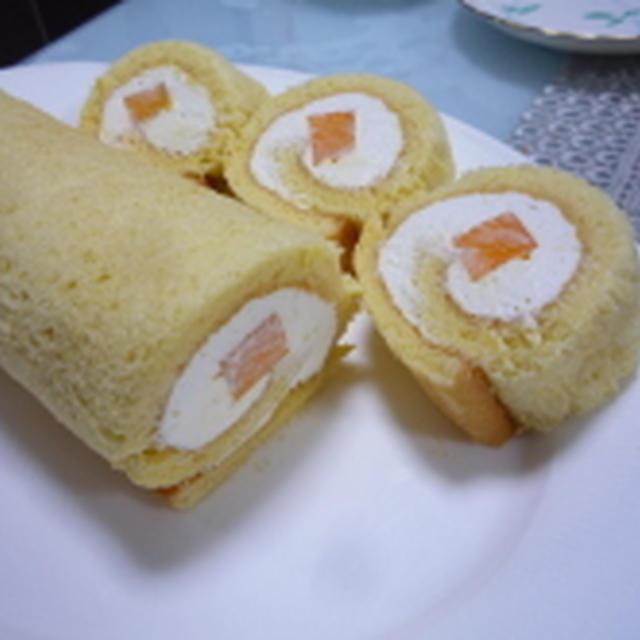 マンゴーロールケーキ♪