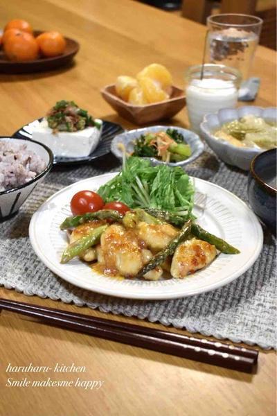 【ささみとアスパラの味噌チリマヨソース】#簡単#時短#ご飯のおかず#お弁当