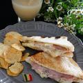 イタリアの軽食★スパイシーハムとチーズのパニーニ