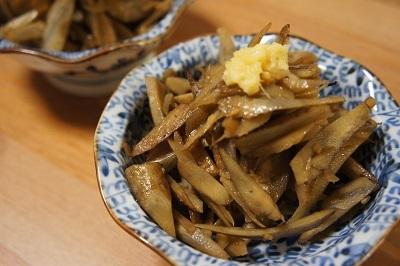 白ご飯が進む。生姜香る甘辛きんぴらごぼう